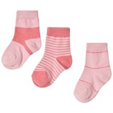 Melton Blush Rose Pink Stripes Numbers Socks Set