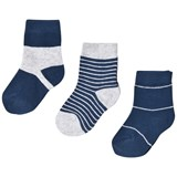 Melton Blue Stripes Numbers Socks Set