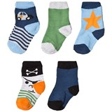 Melton Dark Blue Numbers Socks Set