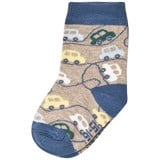 Melton Grey Melange Cars Baby Socks
