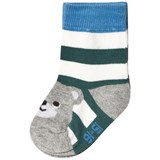 Melton Green Jasper Bear Baby Socks
