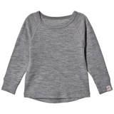 Mikk-Line Pearl Grey Melange Long Sleeve Top