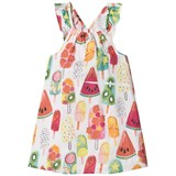 Hatley White Fruity Lollies Bow Back Dress