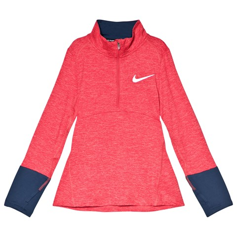 Nike Pink and Navy Long Sleeve Dry Top