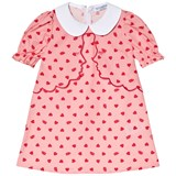 Vivetta Pink Heart and Eye Print Two Face Layer Collared Dress