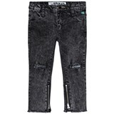 The BRAND Grey Distressed Skinny Zip Stone Wash Jeans