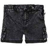 The BRAND Distressed Grey Stone Wash Army Shorts