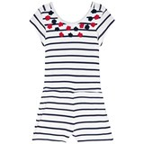 Hatley White and Navy Stripe Romper