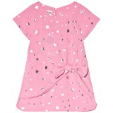 Hatley Pink and Silver Star Bow Front Dress