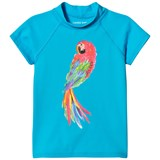 Lands' End Blue Short Sleeve Parrot Graphic UPF50 Rashguard