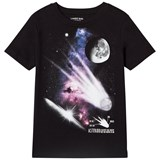 Lands' End Black Asteroid Graphic Short Sleeve T-Shirt