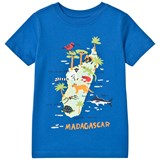 Lands' End Blue Madagascar Island Graphic Short Sleeve T-Shirt