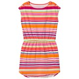 Lands' End Multi Coloured Stripe Short Sleeve Dress