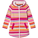 Lands' End Pink Multi Striped Terry Hooded Cover Up