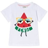 Fendi White Watermelon Monster Print T-Shirt