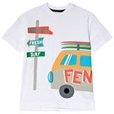 Fendi White Campervan Print T-Shirt