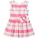 Lili Gaufrette Fuchsia Stripe Party Dress with Bow