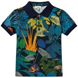 Paul Smith Junior Navy All Over Tropical Print Polo