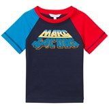 Little Marc Jacobs Navy Retro Logo Print Raglan T-Shirt