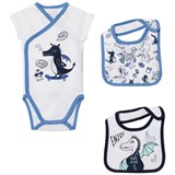 Little Marc Jacobs White Dragon Print Body and 2 Bibs in Gift Box