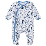 Little Marc Jacobs White and Navy All Over Dragon Print Babygrow