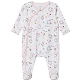 Little Marc Jacobs White and Pink All Over Unicorn Print Babygrow