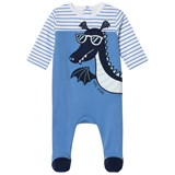 Little Marc Jacobs Blue Dragon Applique Babygrow in Gift Box