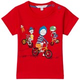 Little Marc Jacobs Red Mr Marc Bike and Friends T-Shirt