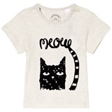 Burberry White Mini Meow Cat Print T-Shirt