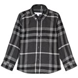 Burberry Dark Grey Mini Fred Scale Check Shirt