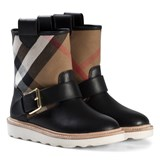 Burberry Black Newberry Check Weatherboots