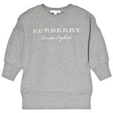 Burberry Grey Branded Mini Soure Sweater Dress