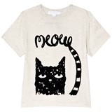 Burberry White Meow Cat Print T-Shirt