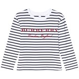 Burberry Navy and White Stripe Peggy T-Shirt