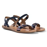 Pom D'api Navy Twist Plagette Sandals