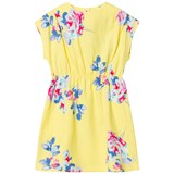 Joules Yellow Floral Jersey Dress