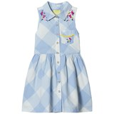 Joules Blue Gingham and Floral Shirt Dress