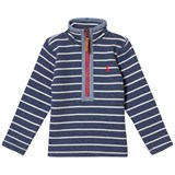 Joules Washed Navy Stripe 1/2 Zip Sweatshirt