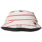 Joules Cream and Red Stripe Reversible Blue Infants Sun Hat