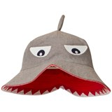Joules Grey Shark Character Sun Hat with Fin