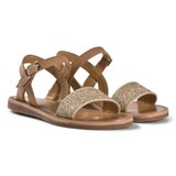 Pom D'api Camel and Dore Tao Stitch Sandals