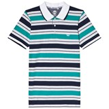 Timberland Kids Navy and Green Stripe Polo