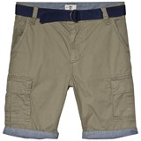 Timberland Kids Khaki Cargo Shorts with Belt