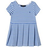 Ralph Lauren Blue and White Stripe Ponte Dress