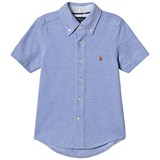 Ralph Lauren Blue Stretch Oxford Mesh Shirt