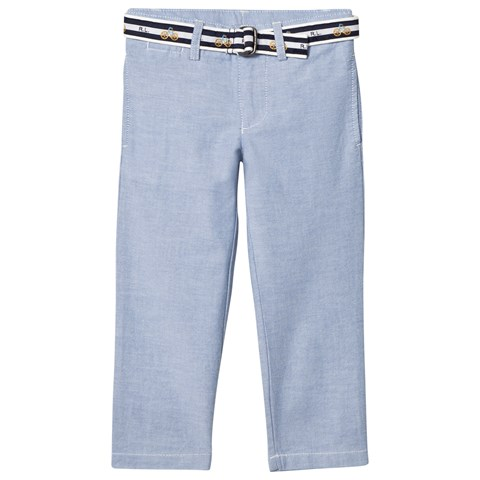 Ralph Lauren Blue Oxford Trousers with Belt