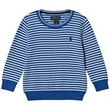 Ralph Lauren Blue Stripe Crew Neck Jumper