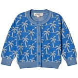 The Bonnie Mob Blue Palm Tree Lightweight Jacquard Cardigan