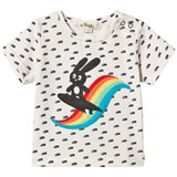 The Bonnie Mob Surfing Bunny Applique Short Sleeve T-Shirt