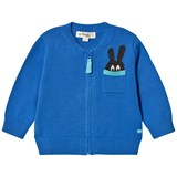The Bonnie Mob Blue Bunny Pocket Zip Cardigan